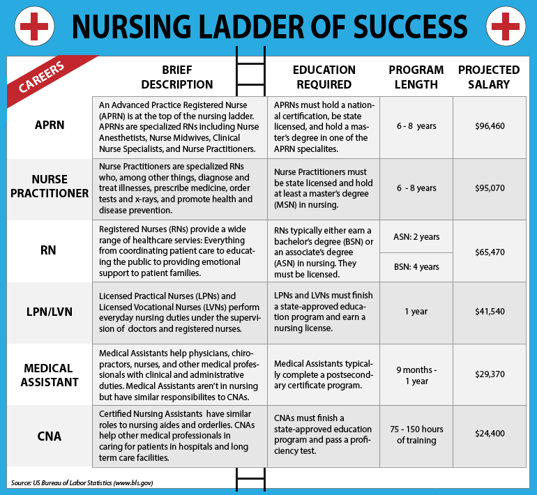 Health Informatics different types of nursing majors